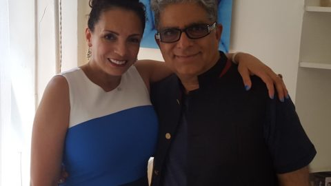 Amaryllis Santiago and Deepak Chopra