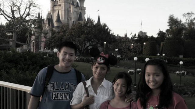 Lynn Yew Evers (2nd from left) and family
