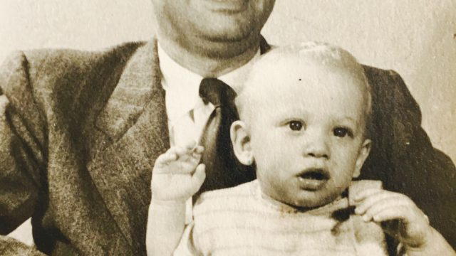 Will Ackerman (baby) and father