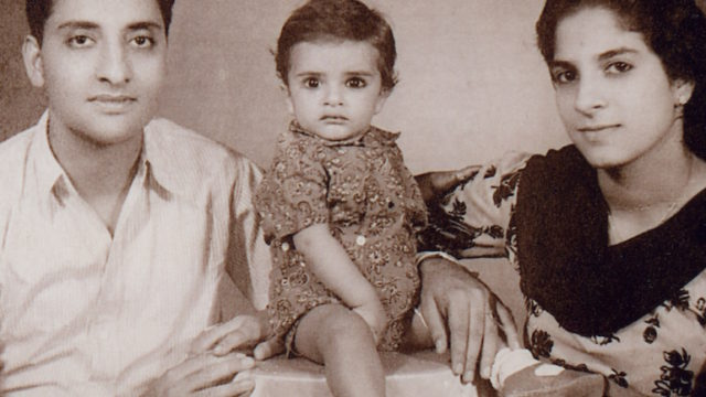 Deepak Chopra (middle), father Krishan Chopra, mother Pushpa Chopra